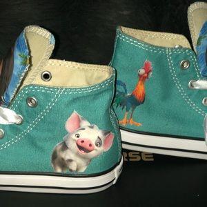 38514e939cd7 Converse Shoes - Custom Moana Converse BLING You choose color 👟